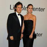 David Lauren y Lauren Bush en una fiesta homenaje a Ralph Lauren en Nueva York