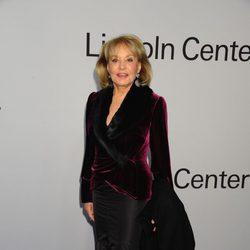 Barbara Walters en una fiesta homenaje a Ralph Lauren en Nueva York