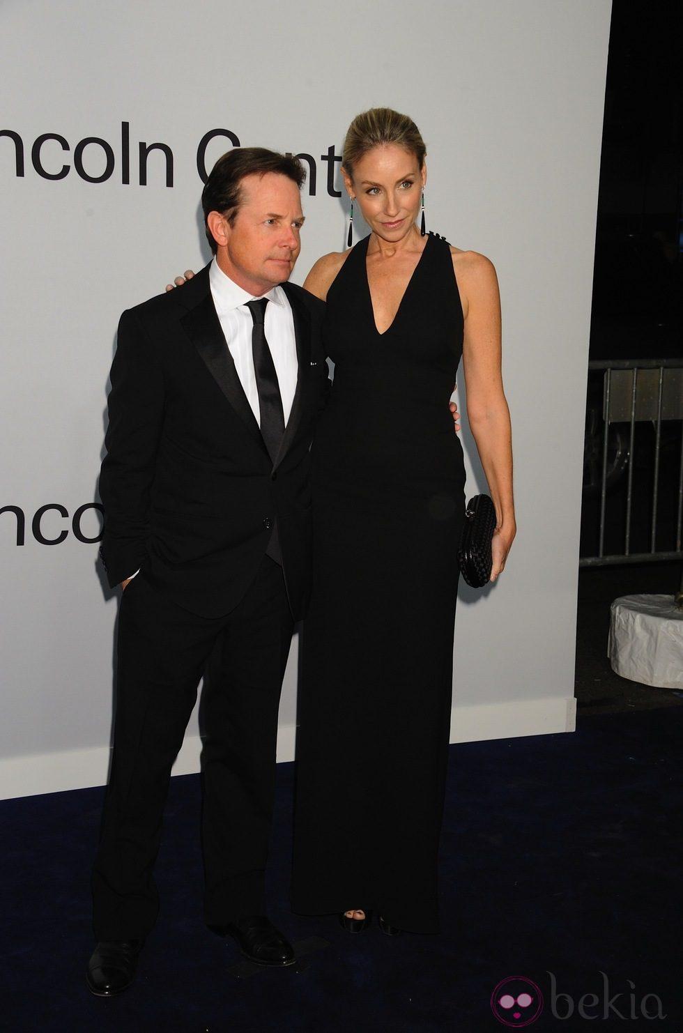 Michael J. Fox y Tracy Pollan en una fiesta homenaje a Ralph Lauren en Nueva York