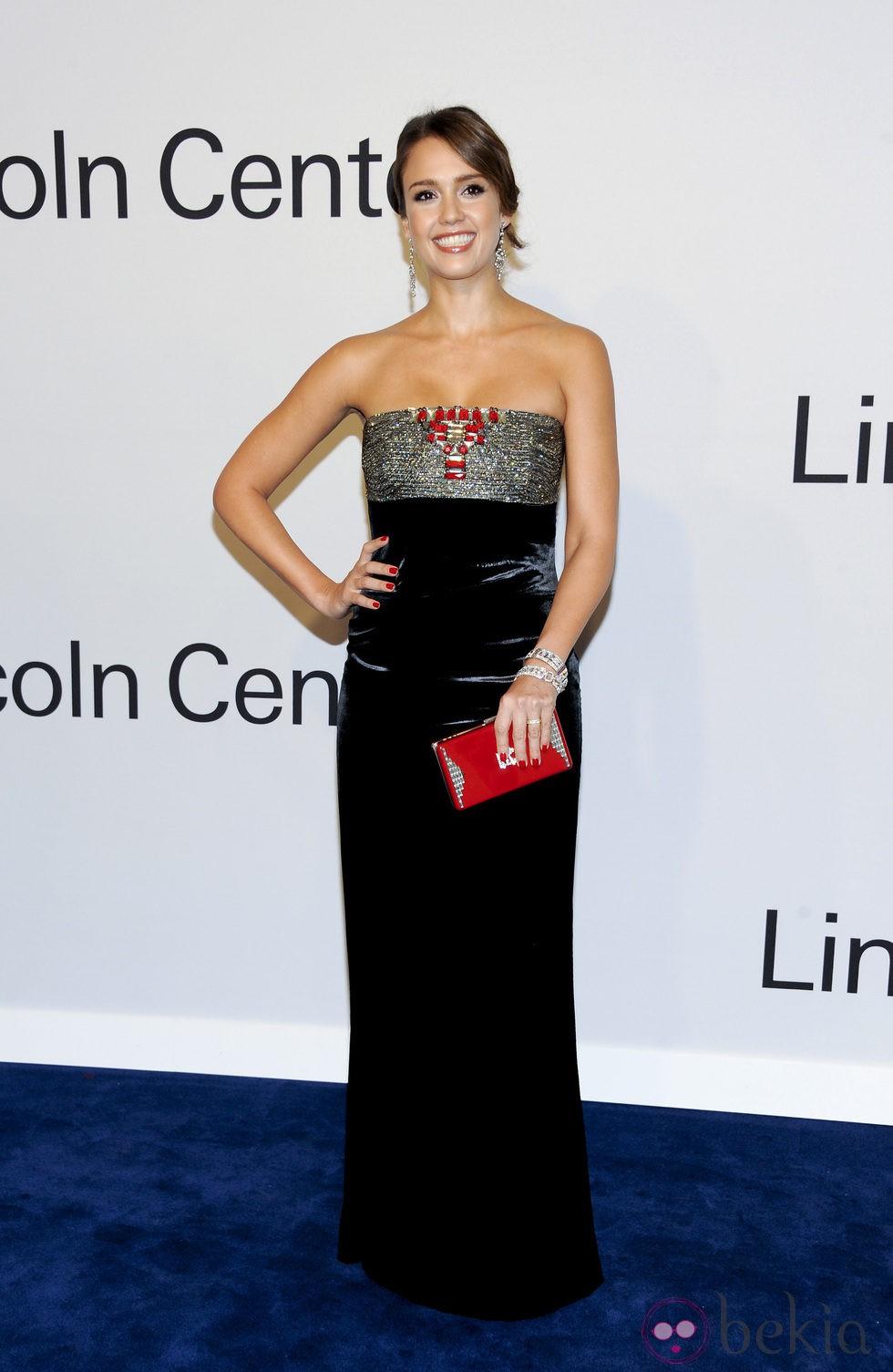 Jessica Alba en una fiesta homenaje a Ralph Lauren en Nueva York