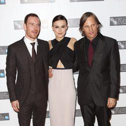 Michael Fassbender, Keira Knightley y Viggo Mortensen presentan 'Un método peligroso'