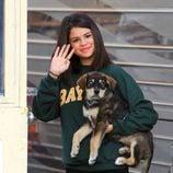 Selena Gomez y su perrito 'Bailer'