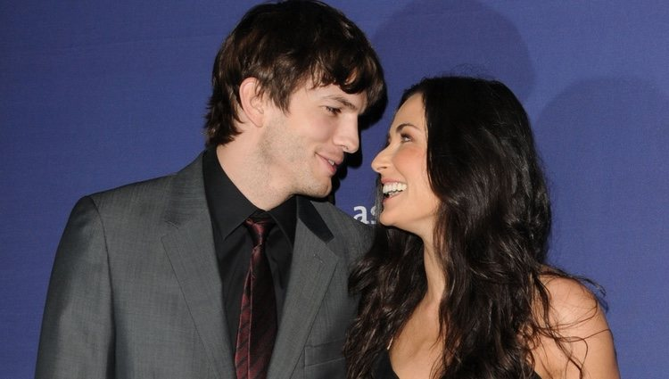 Ashton Kutcher y Demi Moore se casaron en 2005