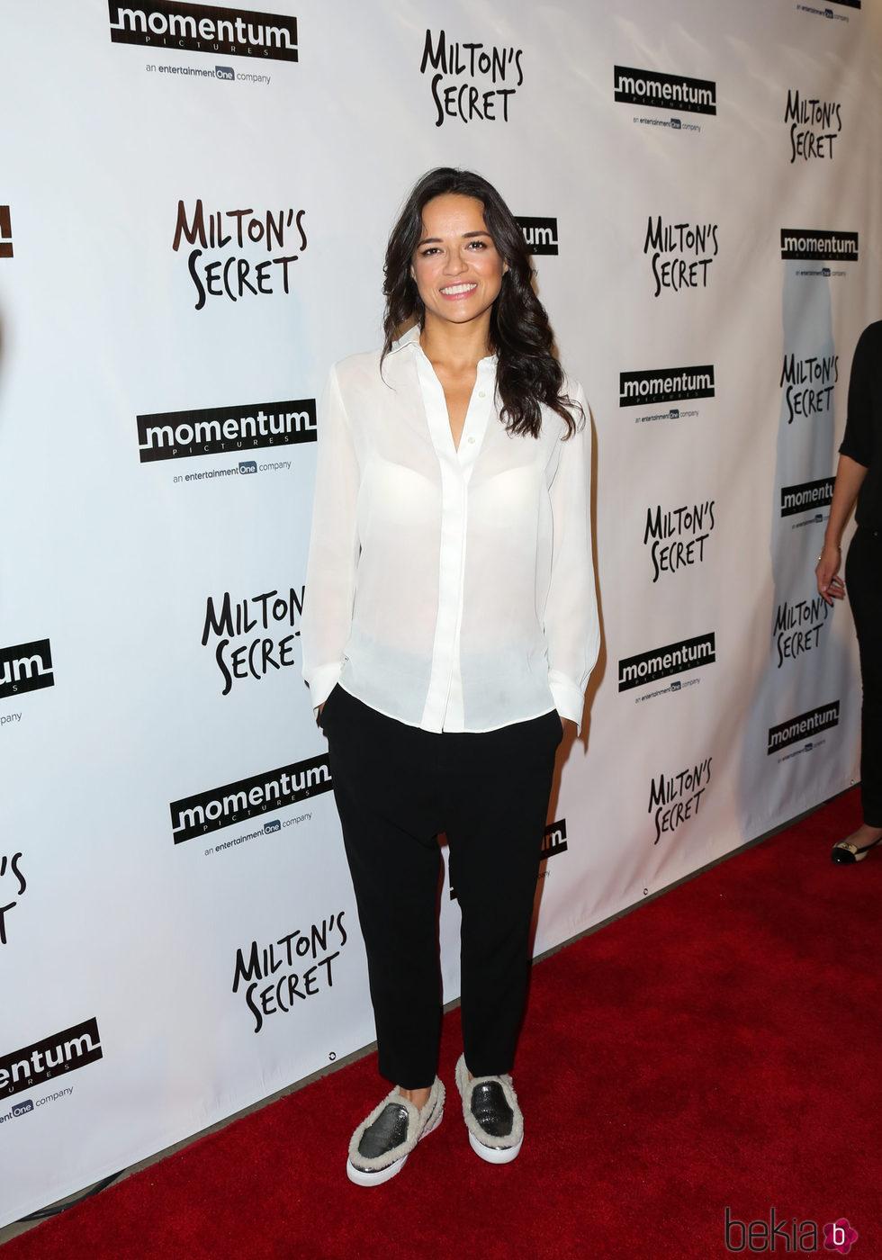 Michelle Rodriguez en el estreno de su película 'Milton's Secret'