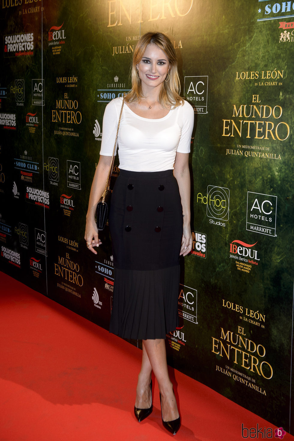Alba Carrillo en el estreno de 'El mundo entero'