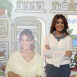 Raquel Bollo en la presentación de la colección de retratos de 'Sálvame' por Javier Mariscal