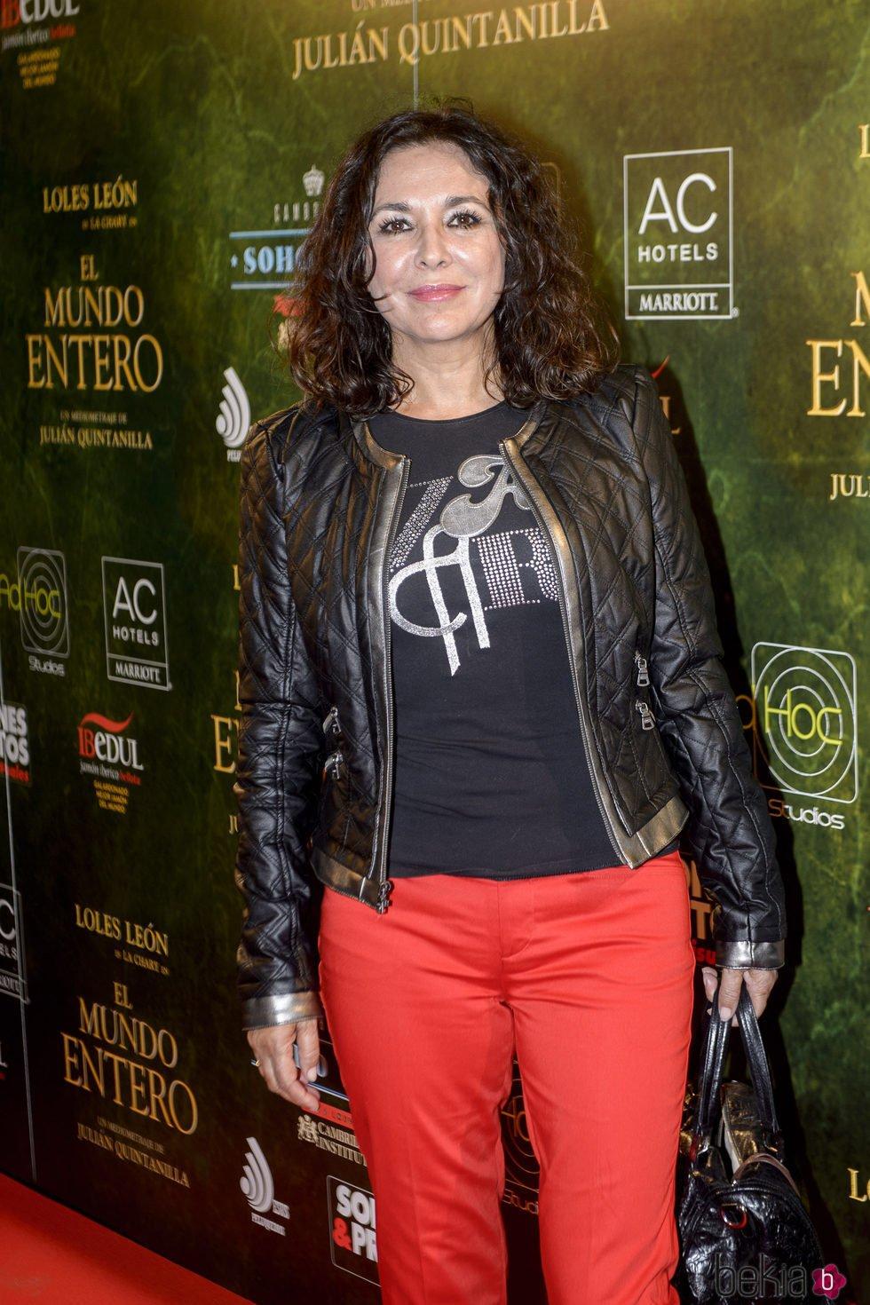 Isabel Gemio en el estreno de 'El mundo entero'