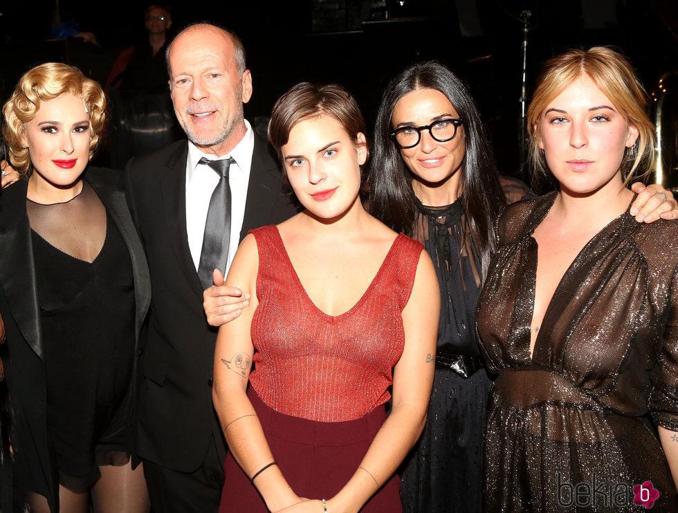 Demi Moore, Bruce Willis y sus tres hijas