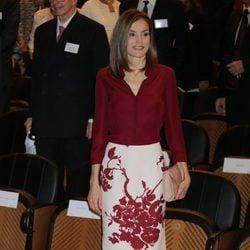 La Reina Letizia en una reunión de la Fundación Amigos del Museo del Prado
