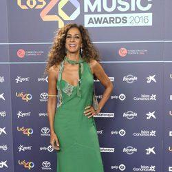 Rosario Flores en la cena de nominados de los Premios 40 Principales 2016