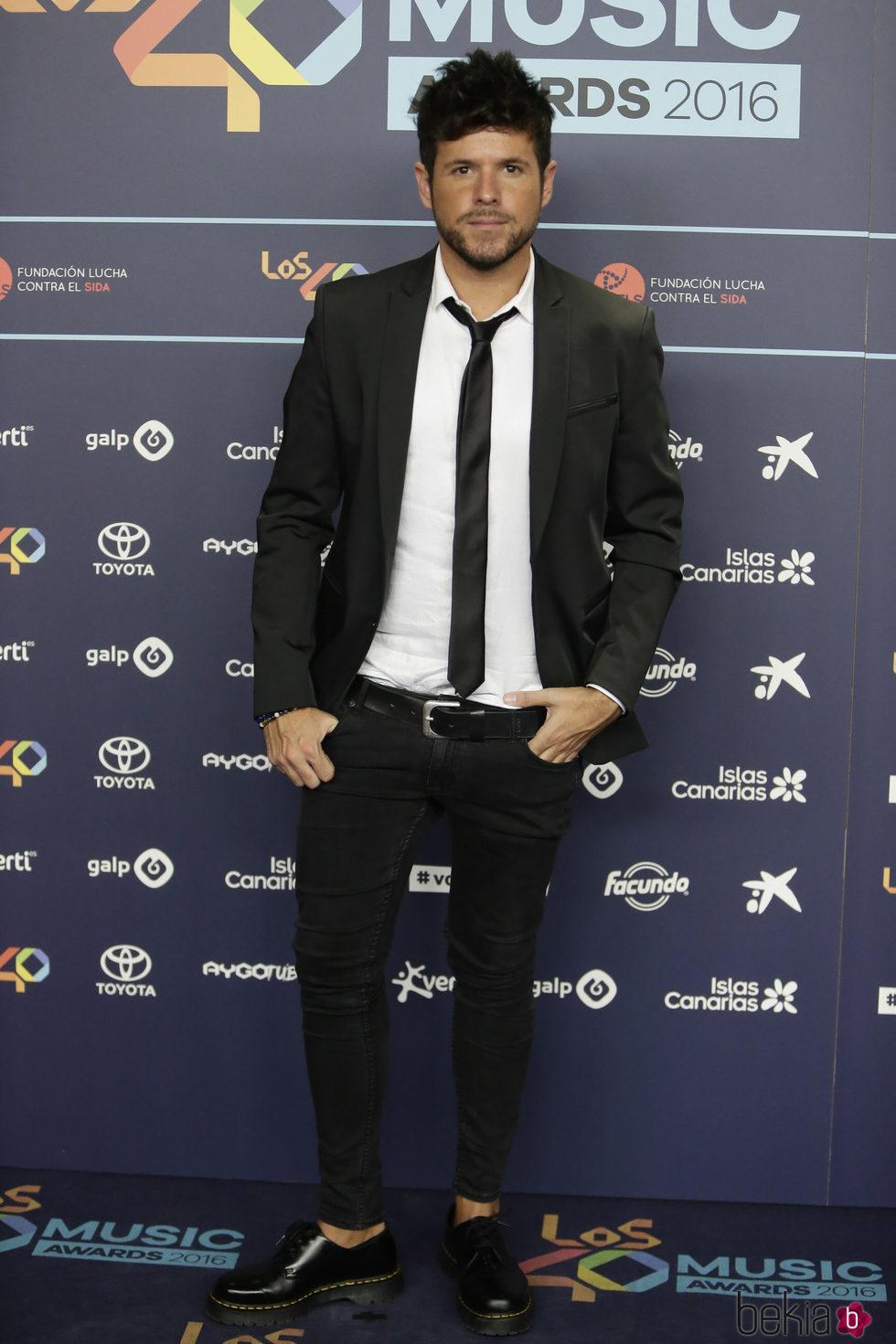 Pablo López en la cena de nominados de los Premios 40 Principales 2016
