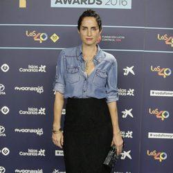 Carolina Adriana Herrera en la cena de nominados de los Premios 40 Principales 2016