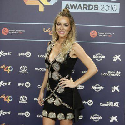 Kira Miró en la cena de nominados de los Premios 40 Principales 2016
