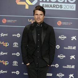 Dani Martín en la cena de nominados de los Premios 40 Principales 2016