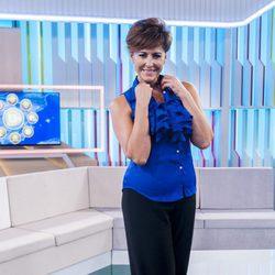 Irma Soriano en la presentación de su programa en 13tv