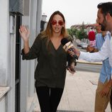 Irene Rosales saliendo de su casa de Sevilla horas antes de su boda con Kiko Rivera