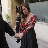 Anabel Pantoja saliendo de la peluquería para ir a la boda de Kiko Rivera e Irene Rosales