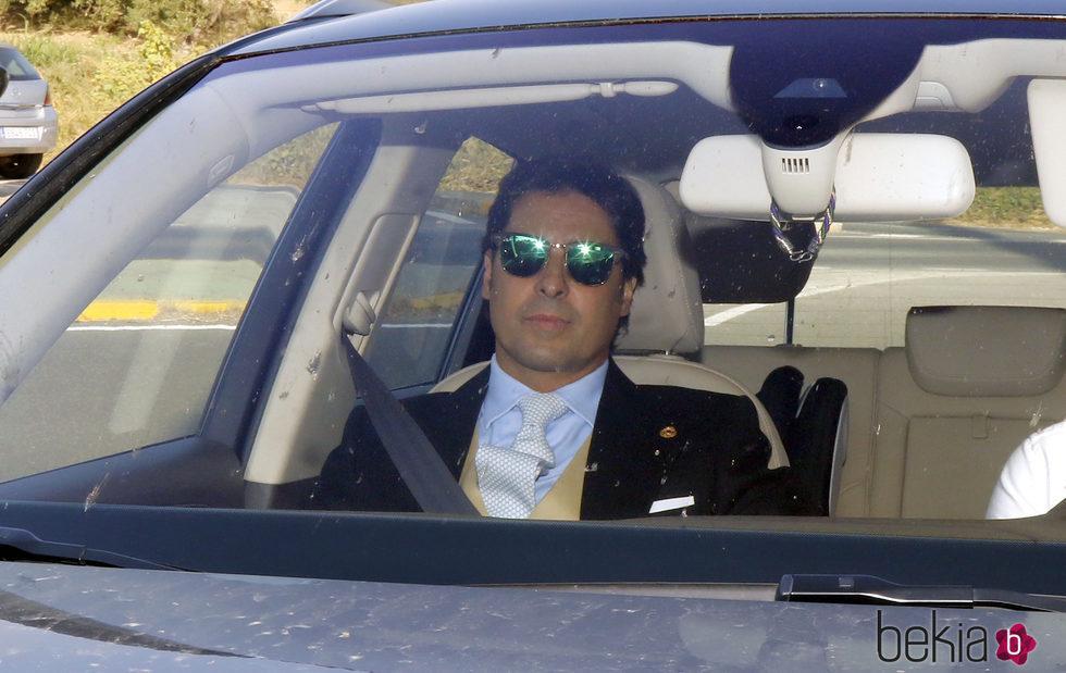 Fran Rivera llegando a la boda de Kiko Rivera e Irene Rosales