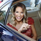 Tamara Gorro llegando a la boda de Kiko Rivera e Irene Rosales