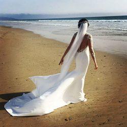 La parte de atrás del espectacular vestido de novia de Paz Padilla