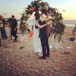 Paz Padilla y Juan Vidal se besan tras el sí quiero