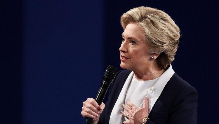 Hillary Clinton, candidata demócrata en el debate a la presidencia a EEUU