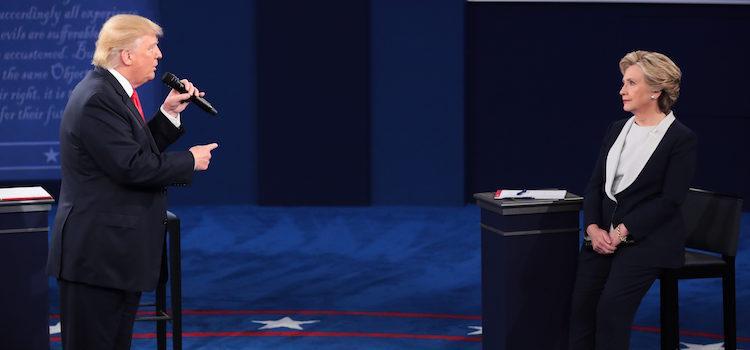 Hillary Clinton y Donald Trump cara a cara en el debate presidencial