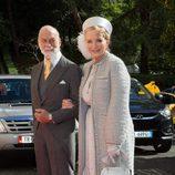Los Príncipes de Kent en la boda de Leka de Albania y Elia Zaharia