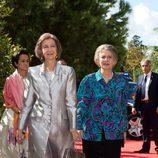 La Reina Sofía e Irene de Grecia en la boda de Leka de Albania y Elia Zaharia