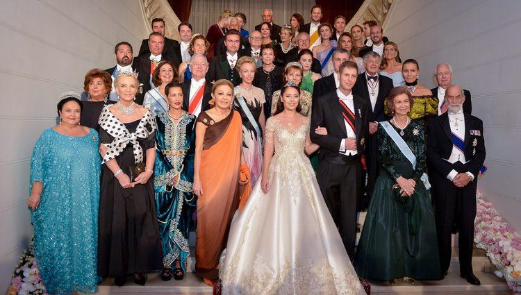 Foto oficial de la boda de Leka de Albania y Elia Zaharia con la realeza invitada