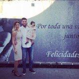 Ezequiel Garay celebrando su 30 cumpleaños con Tamara Gorro y Shaila