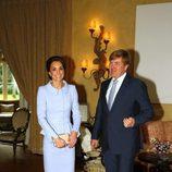 Kate Middleton y Guillermo Alejandro de Holanda en un almuerzo en La Haya