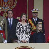 Los Reyes Felipe y Letizia, la Princesa Leonor y la Infanta Sofía en el Día de la Hispanidad 2016