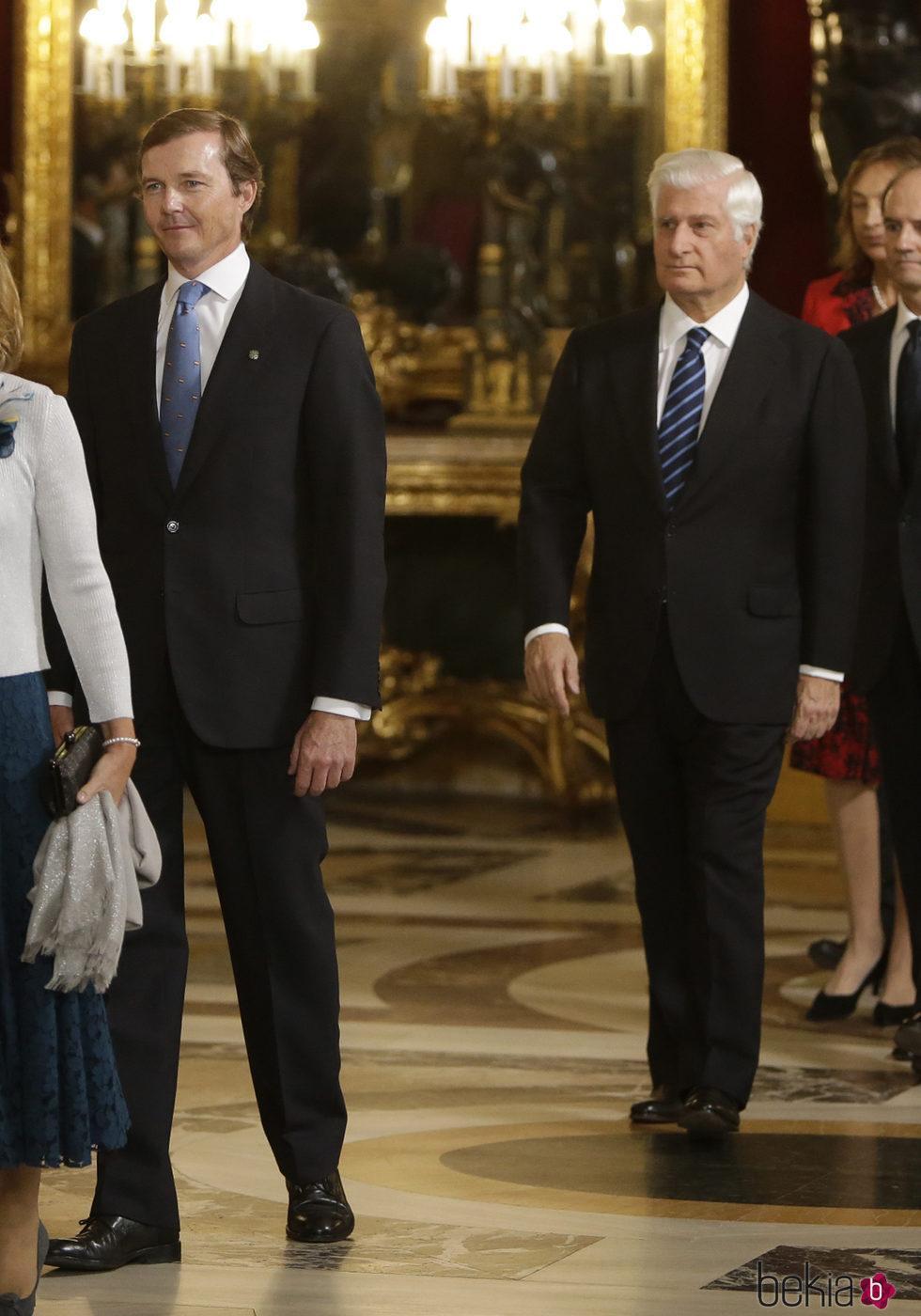 El Duque de Calabria y el Duque de Alba en la recepción del Día de la Hispanidad 2016