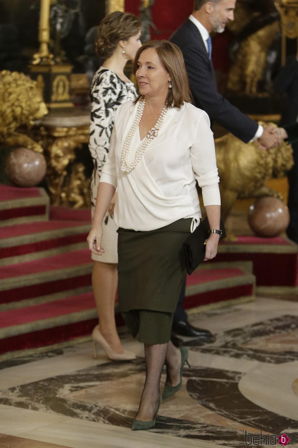 Elvira Fernández Balboa en la recepción del Día de la Hispanidad 2016