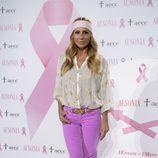 Marta Sánchez en la presentación de la campaña contra el cáncer de mama 2016