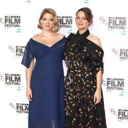 Marion Cotillard y Lea Seydoux en el Festival de Cine BFI 2016