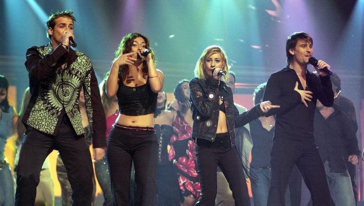 El grupo Fórmula Abierta en un concierto