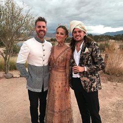 Dianna Agron y Winston Marshall en su boda en Marruecos