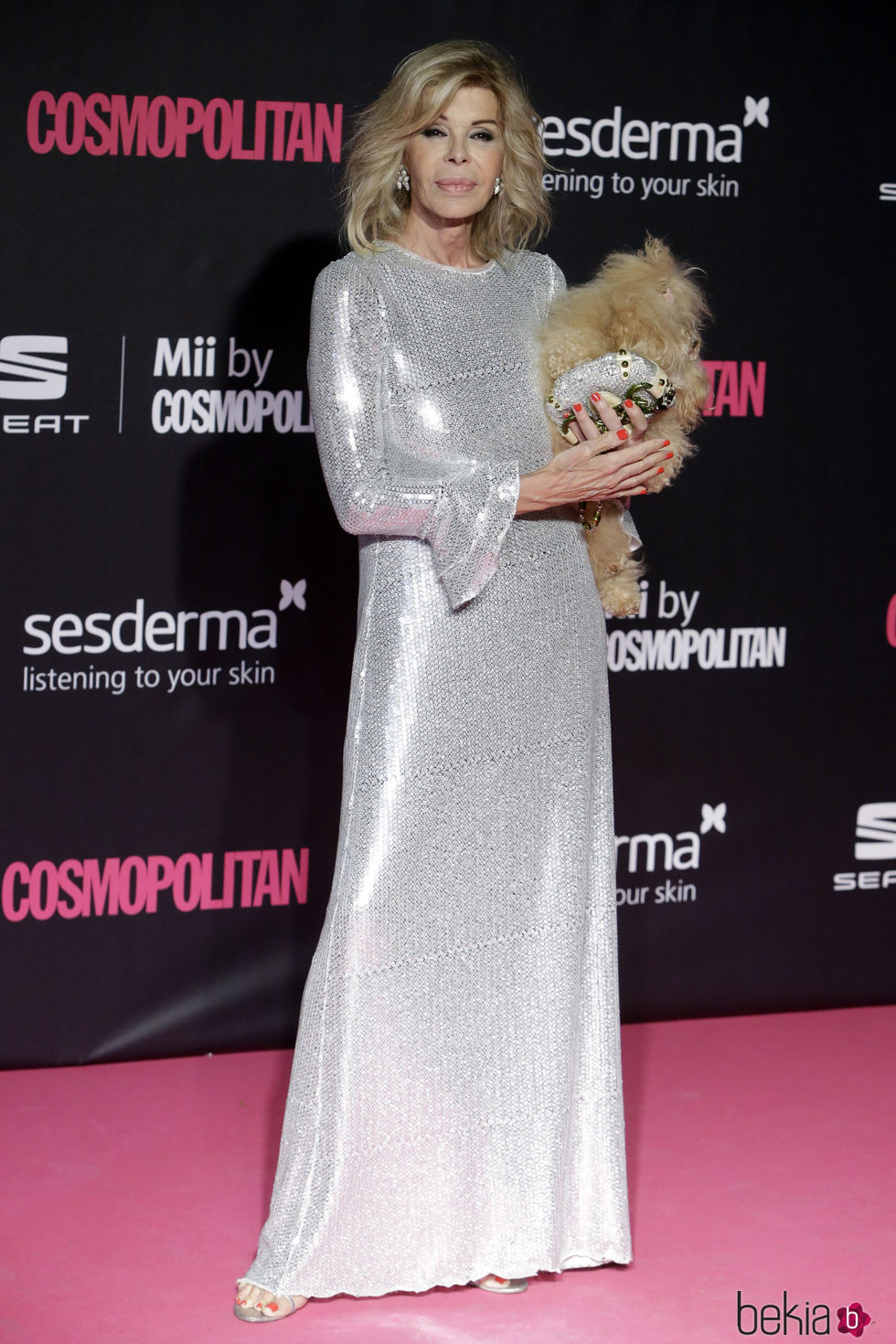 Bibiana Fernández y Hope en los Premios Cosmopolitan Fun Fearless Female 2016