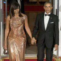 Barack Obama y Michelle Obama en su última Cena de Estado como Presidente y Primera Dama de EEUU