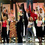 Los concursantes de la primera edición de 'Operación Triunfo' en el escenario