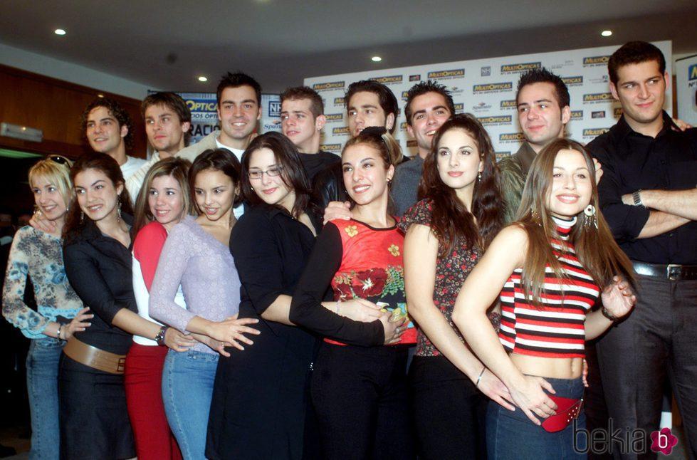 Los concursantes de la primera edición de 'OT' en la presentación de la gira de 'Operación Triunfo'