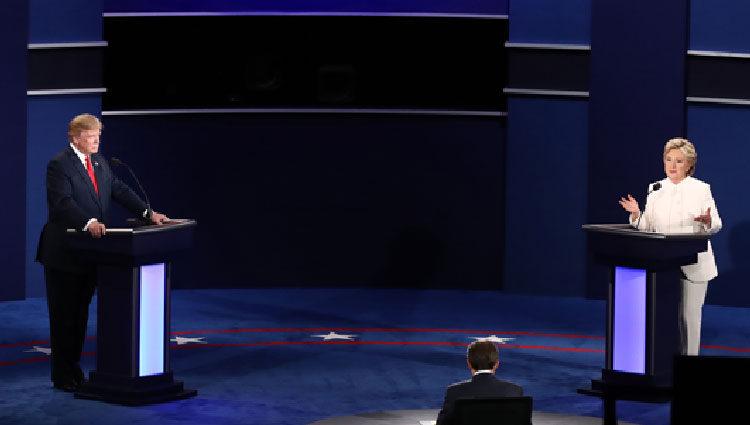 Hillary Clinton y Donald Trump cara a cara en el tercer debate