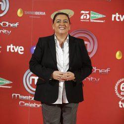 María del Monte en la presentación de 'Masterchef Celebrity'