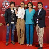 Eva González, Jordi Cruz, Samantha Vallejo-Nágera y Pepe Rodríguez en la presentación de 'Masterchef celebrity'