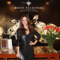 Cecilia Gómez en un acto de la firma de joyería Moon Diamonds
