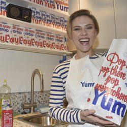 Scarlett Johansson en su tienda de palomitas en París