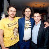 Dave, Tom y James Franco en un acto público