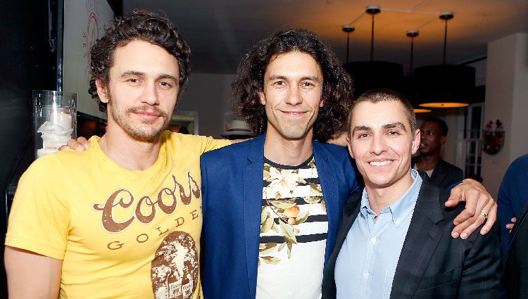 Dave, Tom y James Franco en un acto público